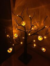 Halloween pumpkin Tree with led lights  - fab prop