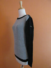 New Puma Womens Size M Black and White Boat Neck Novelty Golf Sweater
