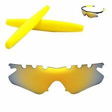 WL Polarized 24K Gold Vented Lenses + Yellow Earsocks For Oakley M Frame Heater
