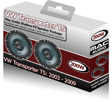 VW Transporter T5 Front Door speakers Mac Audio car speaker kit 200W + adapters