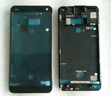 LCD marco Bezel frame carcasa cáscara cover housing display Black para HTC One m7