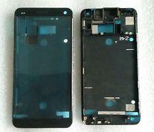 LCD Rahmen Bezel Frame Gehäuse Schale Cover Housing Display Black für HTC One M7