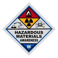 Hazardous Materials Awareness Haz Mat Firefighter Reflective Decal Sticker