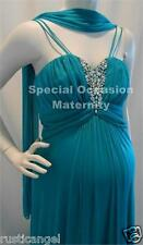NEW Long Jade Double Straps Jewels Maternity Dress MEDIUM Bridesmaids Gown Baby