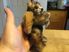 "VINTAGE 6"" 5-WAY JOINTED TINY SIGIKID TEDDY BEAR TIPPED MOHAIR BUMBLEBEE SO CUTE"