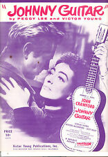 JOHNNY GUITAR Sheet Music Joan Crawford Sterling Hayden PEGGY LEE Cult Classic