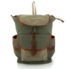 VINTAGE CANVAS HIKING RUCKSACK - RECYCELTE MILITÄRZELTE - FAIR TRADE