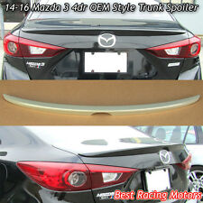 Factory Style Trunk Spoiler Wing (ABS) Fits 14-16 Mazda 3 4dr