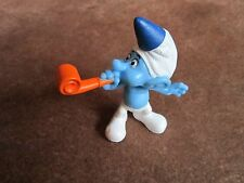 Smurf Figurine Cake Topper Party Horn Blower Cute! Celebration Birthday Blowout