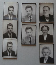 Lot de 8 Photos Identités Photomaton Photobooth Vers 1940/60