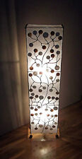 Unusual hand made Shell Coin Contemporary Bali Floor Lamp or Table lamp 100cm