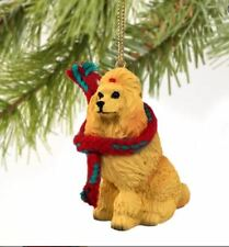 POODLE (APRICOT)  DOG  CHRISTMAS ORNAMENT HOLIDAY  XMAS Figurine Scarf