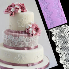 HUGE LACE Silicone Fondant Icing Mould Wedding Cake Decoration Sugarcraft Mold