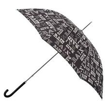 Totes Ladies Elegant Walker Rain Text Print Long Umbrella