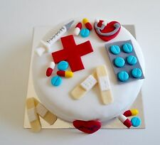 Edible Doctor Nurse Medical Hospital Cake Toppers Birthday Decoration Icing