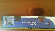 Kingston HyperX KHX6400D2K2/2G 2GB Kit (2x1GB) PC2-6400 DDR2-800 Desktop RAM