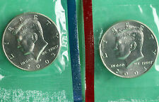2003 P & D Kennedy Half Dollar Coin from US Mint Set 2 BU Cello Fifty Cent UNC