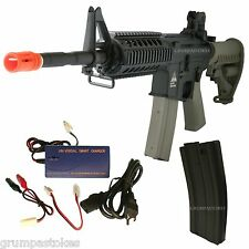Electric Airsoft Rifle Full Metal Blowback Assault AMR-4 M4 EBB AEG Mosfet Chip