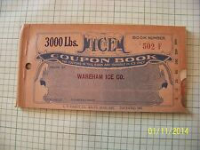 ICE COUPON BOOKS 1920'S with  free vintage 1960 color post card