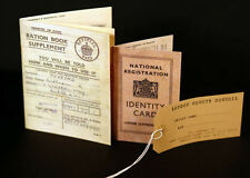 WW2-Wartime-Evacuee Ration Book-ID Card-Label KIDS SET Great for School Project
