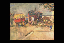 358090 Gypsy Camp Vincent Van Gogh A4 Photo Print