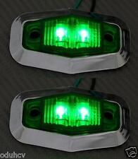 2x 12V LED Lateral Verde Bisel cromado luces de marcaje camión camión bus