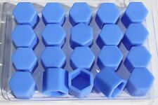 20 x Silicone Wheel Screws Nuts Caps Bolts Covers 17mm PEUGEOT 106 205 306 307..