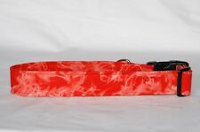 "1.5"" Large Snap Closure Dog Collar Red Tie Dye"
