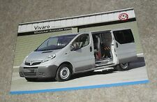 Vauxhall Vivaro Wheelchair Accessible Vehicle Brochure 2007-2008