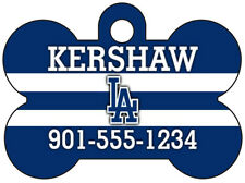 Los Angeles Dodgers Pet Id Dog Tag Personalized w/ Your Pet's Name & Number