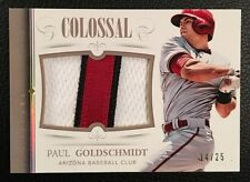 $$$ Paul Goldschmidt 2014 Panini National Treasures Colossal Jersey Patch SP /25