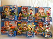 Paw Patrol Action Pack Figure & Badge Toy Lot 6 Zuma Skye Ryder Spy Chase Rubble