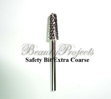 """1pc Silver Safety Bit Extra Coarse Carbide Electric File Nail Drill 3/32"""" XC"""