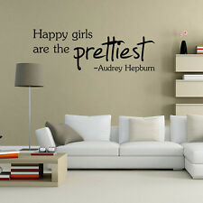 Happy Girls Quote Words Mural Removable Wall Sticker Vinyl Decal Home Room Decor