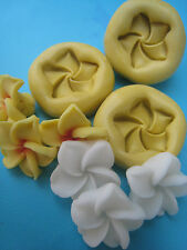 Plumeria Flower 3 set Silicone Molds Gumpaste Fondant Cake Chocolate clay #40A