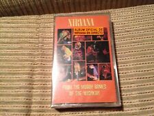 NIRVANA SPANISH CASSETTE TAPE SPAIN FROM THE MUDDY BANKS - LIVE SEALED GRUNGE