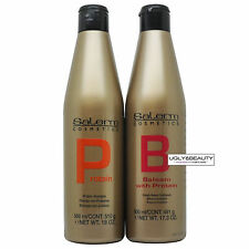 Salerm Protein Shampoo & Protein Balsam Conditioner 500 ml Duo with Free Gift
