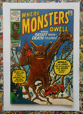 WHERE MONSTERS DWELL #6 - NOV 1970 - REPRINTS 1st GROOT APPEARANCE! - FN+ (6.5)