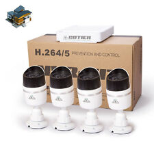 4CH NVR Security System Kit 720P HD Waterproof 1MP IP Ir-cut Night Vision Camera