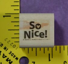 STAMPIN' UP! SO NICE! with HEART thank you, congrats rubber stamp #1188