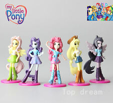 5X My Little Pony Equestria Girls PVC Action Figures Toy Cake Toppers Doll 6.5CM