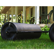 Poly Tow Lawn Roller Drum Garden Back Yard Flatten Grass Frost Heaves Remover