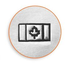 ImpressArt Canadian Flag Design Stamp For Hand Stamped Jewelry