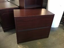 2 DRAWER LATERAL SIZE FILE CABINET by HON in MAHOGANY COLOR LAMINATE MODEL 10563