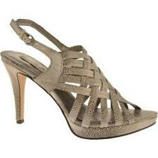 Bandolino Women's On The Spot Platform Sandal Taupe Leather 8.5M