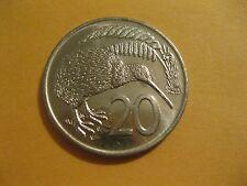 """1977 or 78  New Zealand 20 Cent Coin  """"Kiwi Bird""""  very nice coin  world coins"""