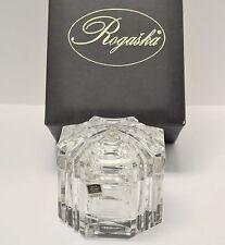 """Limited Edition 8 of 250 Miller Rogaska Heavy Crystal 4.5"""" Lidded Bowl / Basket"""
