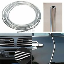 4M Silver Car Interior Decor Decoration Door Chrome Moulding Trim Strip U Style