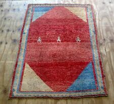 Vintage Persian Gabbeh Hand Woven Rug