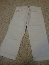 Women's jrs AMBERCOMBIE & FITCH white jean capri pants, 6